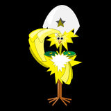 Chicken generalissimo. Illustration of chicken, which salutes Stock Photo