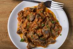 Chicken gizzard stew Stock Image