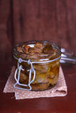 Chicken gizzards confit in olive oil Royalty Free Stock Image
