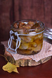 Chicken gizzards confit in olive oil Royalty Free Stock Photography
