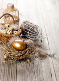 Chicken golden egg Royalty Free Stock Image