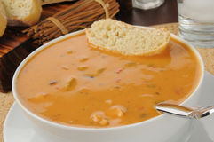 Chicken gouda cheese bisque Stock Photography