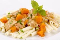 Chicken goulash with macaroni Stock Image