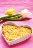 Chicken gratin stock photo