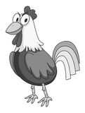 Chicken in gray standing Stock Photos