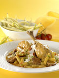 Chicken with green beans Royalty Free Stock Photography