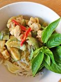 Chicken green curry Royalty Free Stock Image