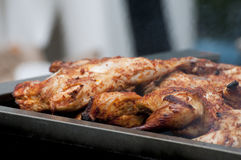 Chicken on the grill Royalty Free Stock Photos