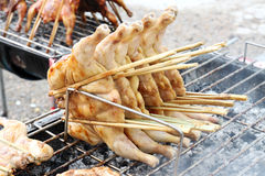 Chicken on grill Royalty Free Stock Images