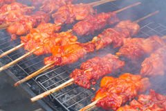 Chicken on grill Stock Photography