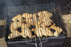 Chicken on a grill Royalty Free Stock Photography