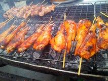 Chicken grill. Thai street food Stock Photos