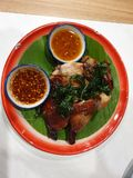 Chicken grill thailand styles. Meal royalty free stock image
