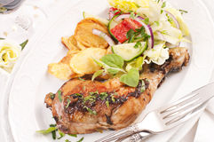 Chicken grilled Stock Image
