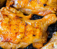 Chicken grilling Royalty Free Stock Photo