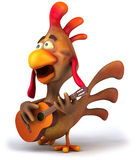 Chicken and guitar Royalty Free Stock Photography