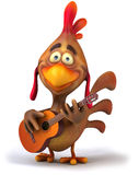 Chicken and guitar Stock Images