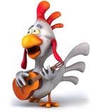 Chicken and guitar Stock Photo