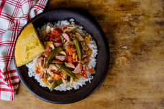 Chicken Gumbo With Cornbread