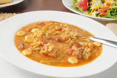 Chicken gumbo soup Royalty Free Stock Photos