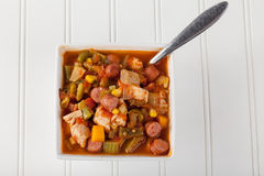 Chicken Gumbo Soup homemade Stock Image