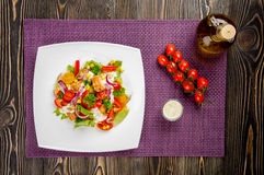 Chicken gyros salad Royalty Free Stock Image