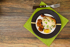 Chicken Ham, Baked with Dried Apricots, Apples and Carrots Royalty Free Stock Images