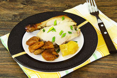 Chicken Ham, Baked with Dried Apricots, Apples and Carrots Royalty Free Stock Photos