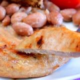 Chicken hamburger royalty free stock images