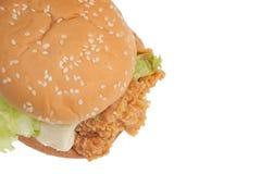 Chicken hamburger isolated on white background Stock Images