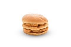 Chicken hamburger on white backgroung Stock Image