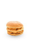 Chicken hamburger on white backgroung Stock Photography