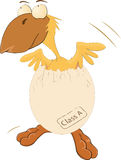 The chicken hatched from egg vector illustration