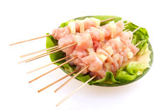 Chicken Hawaii pins for BBQ Stock Image