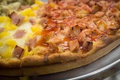 Chicken Hawaiian Pizza Pie Royalty Free Stock Photo