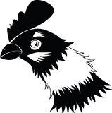 Chicken head. In black and white Royalty Free Stock Images