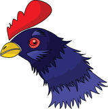 Chicken head. Vector of purple chicken head Royalty Free Stock Photos
