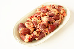 Chicken hearts Stock Photos