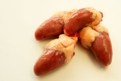 Chicken hearts Royalty Free Stock Photography
