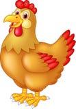 Chicken hen cute posing stock illustration