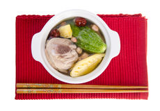 Chicken and herb soup, Chinese food style Stock Image
