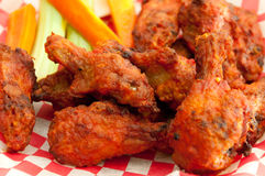 Chicken hot wings. Buffalo style spicy hot and spicy chicken wings Royalty Free Stock Photography