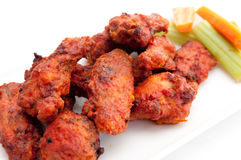 Chicken hot wings. Buffalo style spicy hot and spicy chicken wings Stock Photos