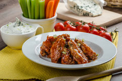 Chicken hot wings Royalty Free Stock Photos