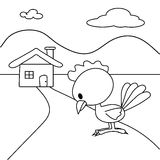 Chicken and the house Stock Photography