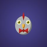 Chicken icon. Chicken. New symbol of the 2017 year. Mary Christmas Stock Photo