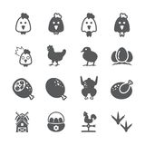 Chicken icon set vector illustration