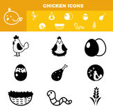 Chicken icon set  Royalty Free Stock Image
