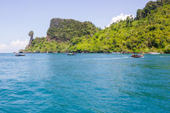 Chicken Island and dive the Phi Phi islands thailand Stock Photography