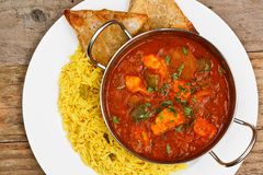 Chicken jalfrezi balti dish royalty free stock images